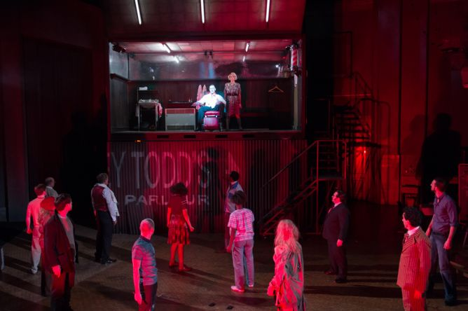 Sweeney Todd Theatre Shipping Containers